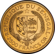 2500 francs (Eurafrique) – avers