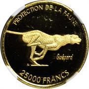 25 000 francs (Essai, guépard) – revers