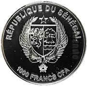 1000 francs CFA (Galago Senegalensis) – avers
