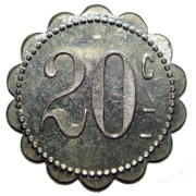 20 centimes (Keur Boubar) – revers