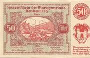 50 Heller (Senftenberg) – avers
