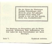 20 Heller (Senftenberg) – revers