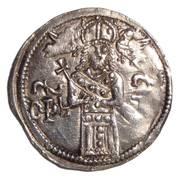 Coronation Dinar - Stefan Uroš IV Dušan – avers