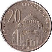 20 Dinara (République) – revers