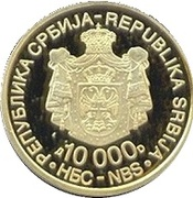 10000 Dinara (Nikola Tesla) – avers