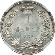 1 dinar - Milan I -  revers