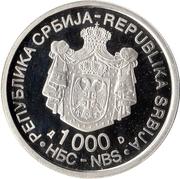 1000 Dinara (Dositej Obradović) – avers