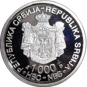 1000 Dinara (Nikola Tesla) – avers