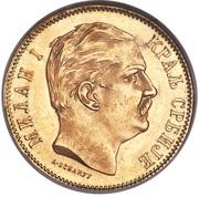 10 dinars - Milan I – avers