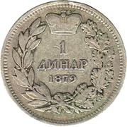 1 dinar - Milan I – revers