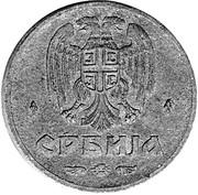 50 para (occupation allemande) – avers