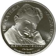 100 Dinara (Nikola Tesla) – revers