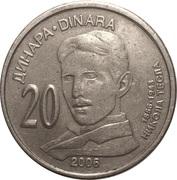 20 Dinara (Nikola Tesla) – revers