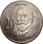 20 Dinars (Georg Weifert) – revers