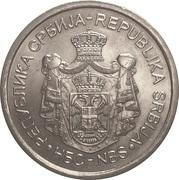 20 dinara (Michael Pupin) – avers