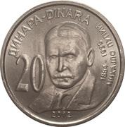 20 dinara (Michael Pupin) – revers