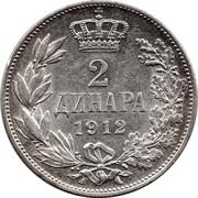 2 dinars - Pierre I – revers