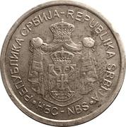 10 Dinara (2nd coat of arms) – avers