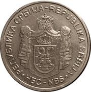 10 Dinara (République) – avers