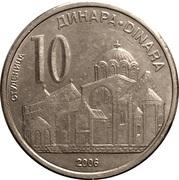 10 Dinara (République) – revers