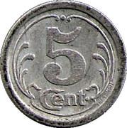 5 Centimes - Union Commerciale & Industrielle - Sézanne [51] – revers