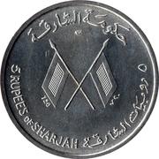 5 roupies - Saqr bin Sultan al-Qasimi (J. F. Kennedy) – avers
