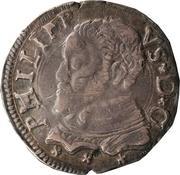 3 tari - Filippo II – avers