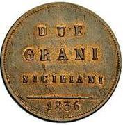 2 Grani - Ferdinando II – revers