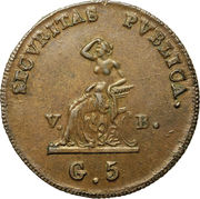 5 Grani - Ferdinando III – revers