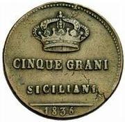 5 Grani - Ferdinando II – revers