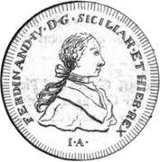 60 grani Ferdinando IV – avers