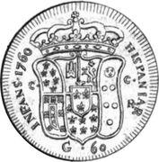 60 grani Ferdinando IV – revers