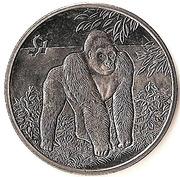 1 dollar (Gorille des montagnes) – revers