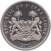 1 dollar Jubilé d'Elizabeth II (visite du Sierra Leone) – avers