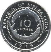 10 leones – avers