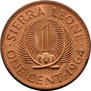 1 cent -  revers
