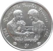 1 Dollar (Princess Diana-Aids Campaign) – revers