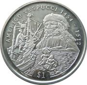1 Dollar (Amerigo Vespucci) – revers