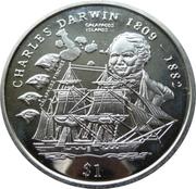 1 Dollar (Charles Darwin) – revers