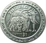 1 dollar (Éléphants) – revers