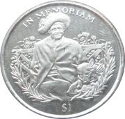 1 Dollar (Reine-mère) – revers