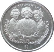 1 Dollar (Reine-mère et ses filles) – revers