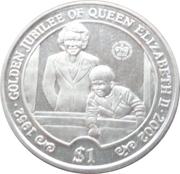 1 Dollar (Reine Elizabeth II et le jeune Prince Charles) – revers