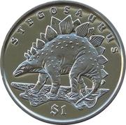 1 Dollar (Stégosaure) – revers
