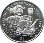 1 Dollar (Christophe Colomb) – revers