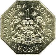 1 Leone – avers