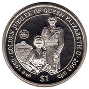 1 Dollar (Elizabeth II et le prince Philip) – revers