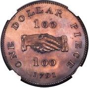 "1 Dollar (Sierra Leone Company; type ""100"") – revers"