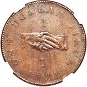 "1 Dollar (Sierra Leone Company; type ""1"") – revers"