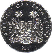 1 Dollar (Grands animaux d'Afrique) – avers
